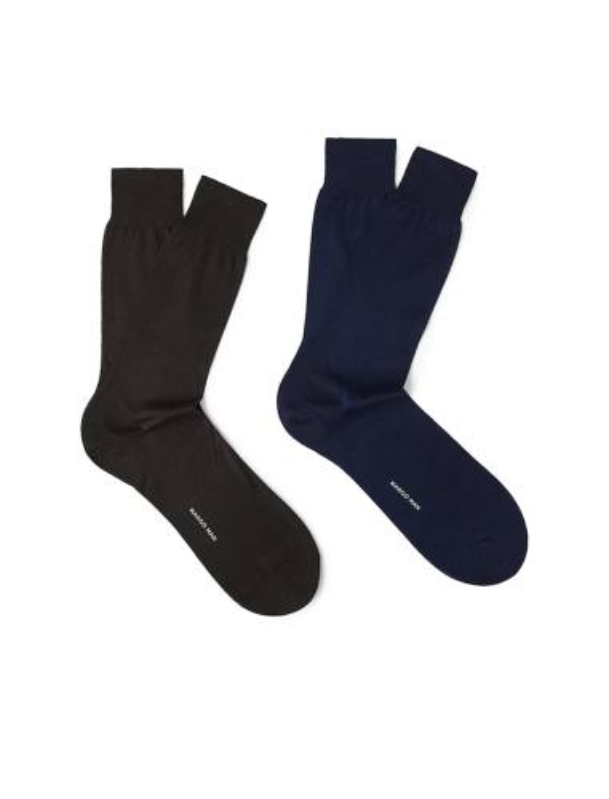 جوراب نخی ساق متوسط مردانه بسته 2 عددی - مانگو