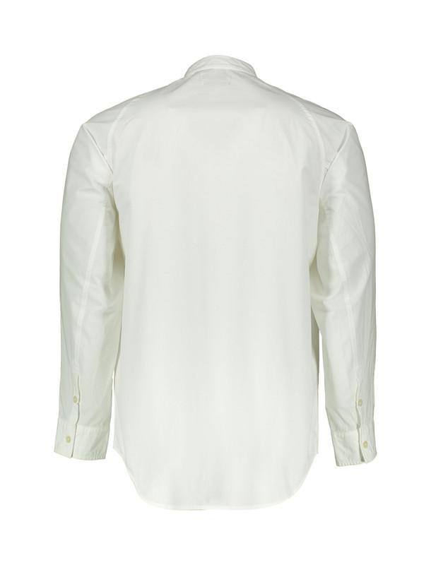 پیراهن نخی یقه ایستاده آستین بلند مردانه