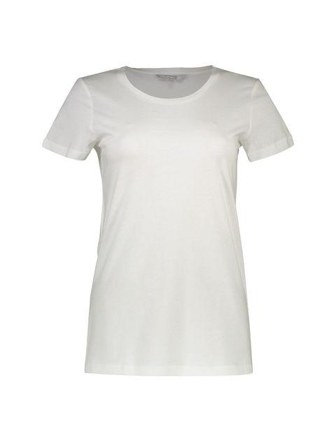 تی شرت نخی یقه گرد زنانه - رد هرینگ - سفيد - 1
