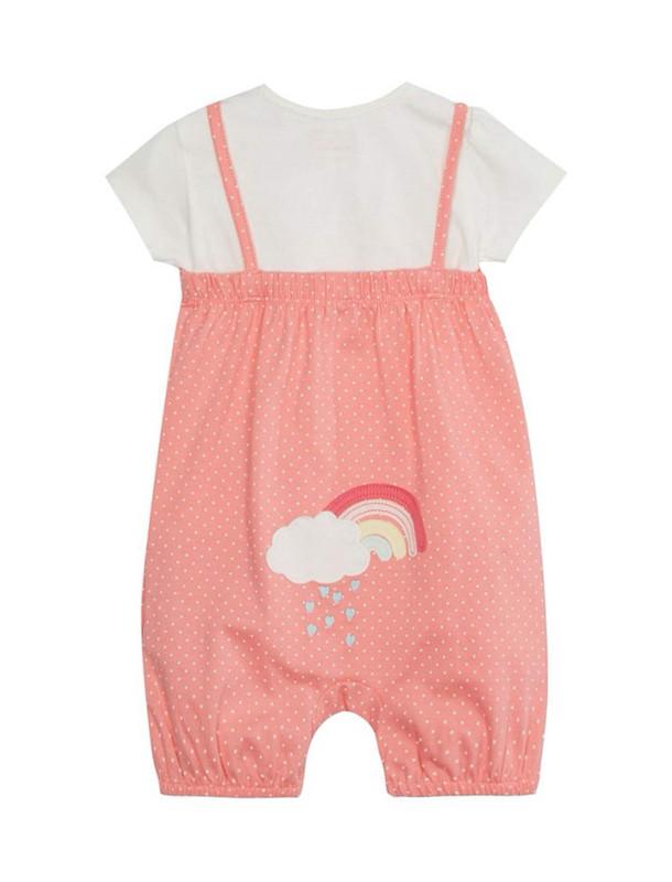 سرهمی و تی شرت نخی نوزادی دخترانه
