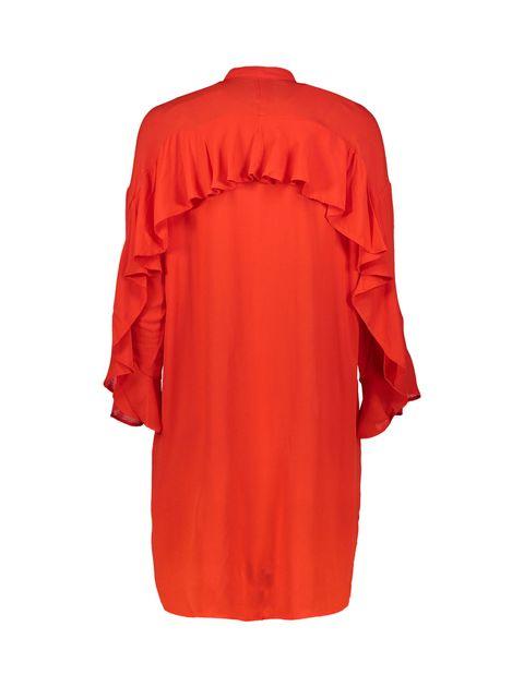 تونیک ویسکوز بلند زنانه - قرمز - 2
