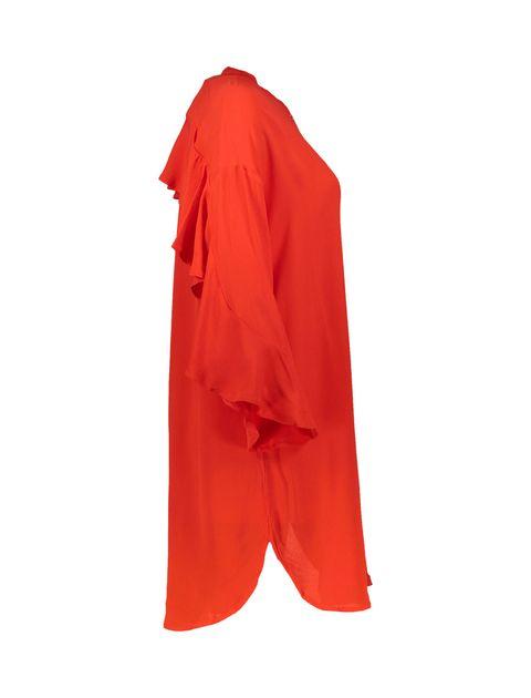 تونیک ویسکوز بلند زنانه - قرمز - 3