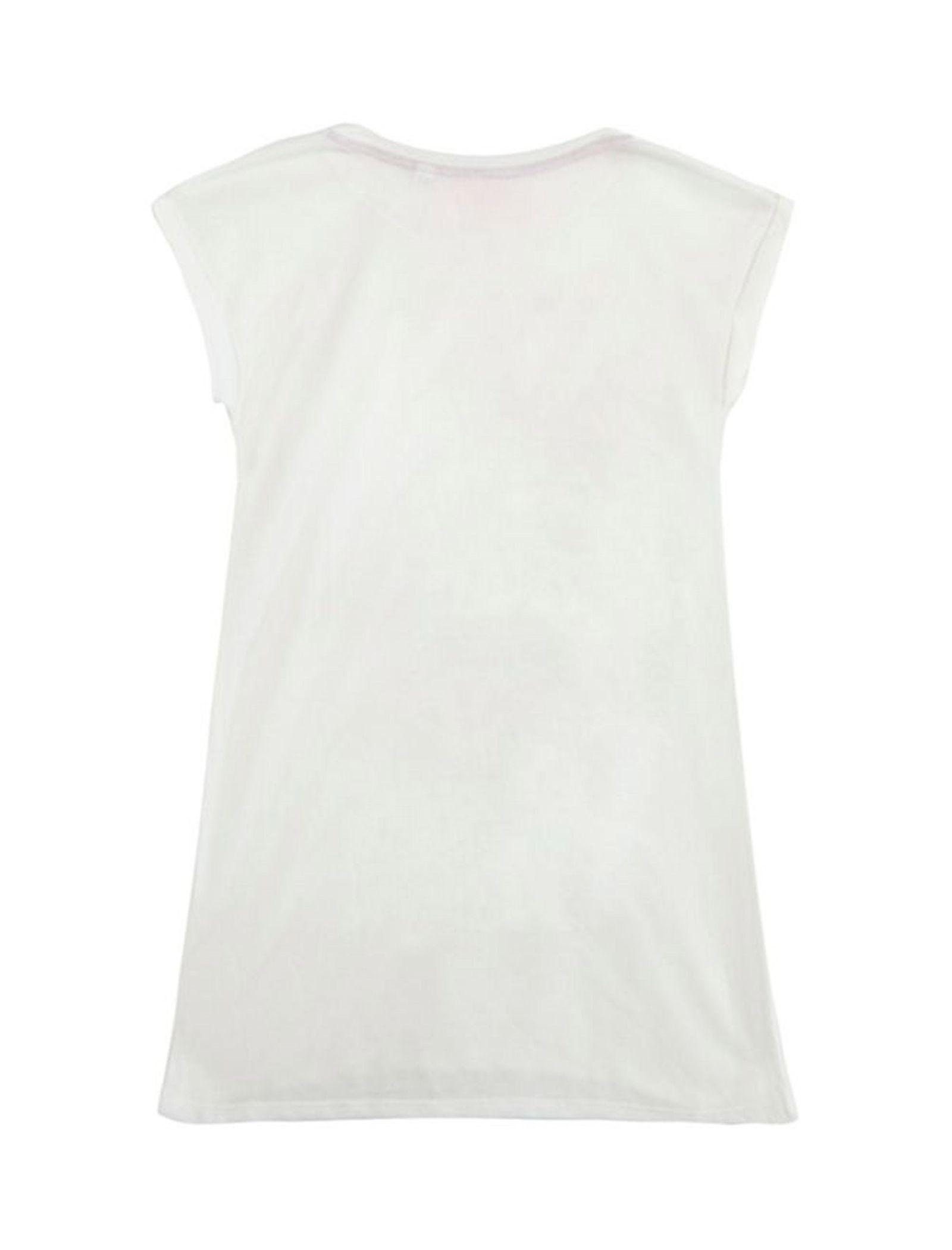 تی شرت یقه گرد دخترانه - بلوزو - سفيد - 2