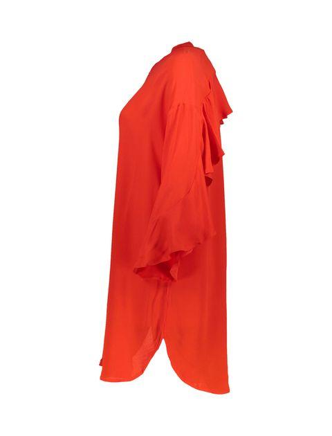 تونیک ویسکوز بلند زنانه - قرمز - 4