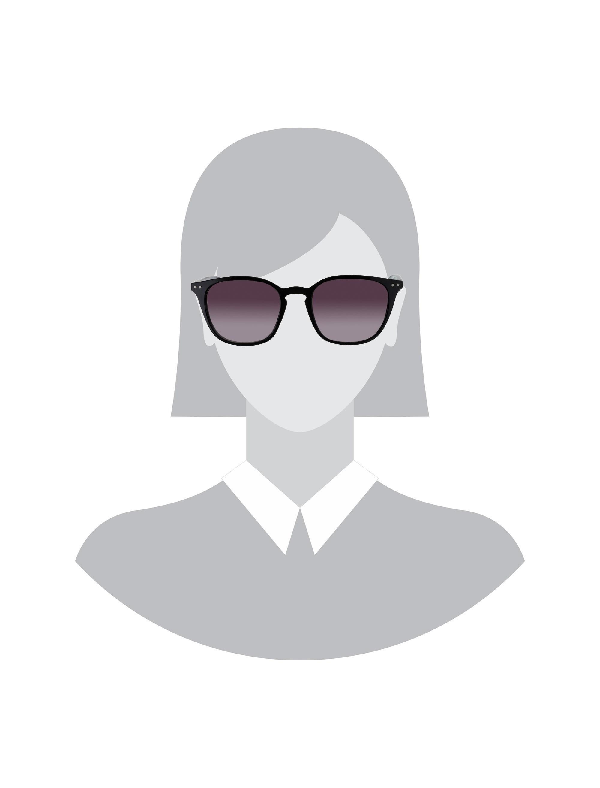 عینک آفتابی مربعی زنانه - مشکي - 6
