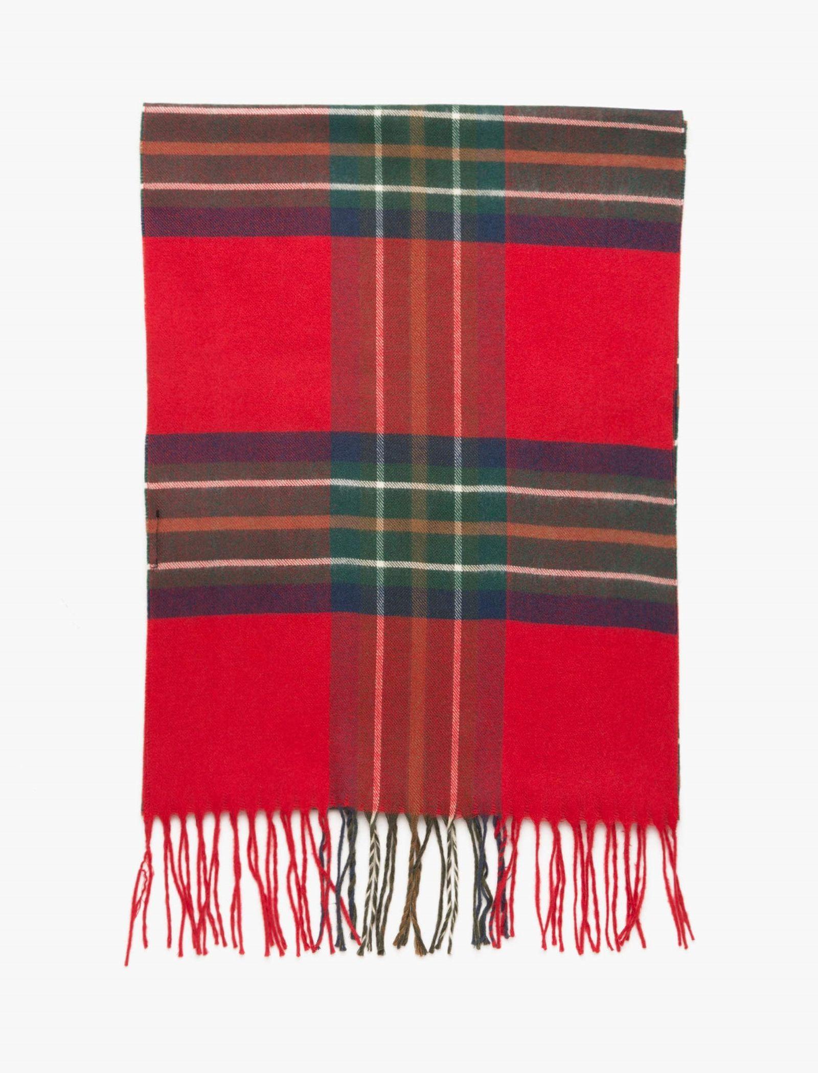 شال گردن طرح دار مردانه - کوتون - قرمز - 2