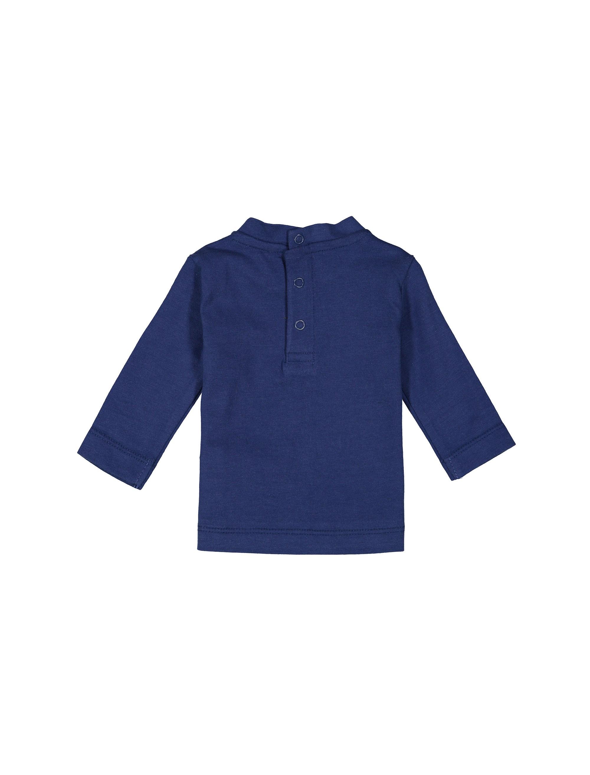 تی شرت نخی یقه گرد نوزادی پسرانه - ایدکس - سرمه اي - 2