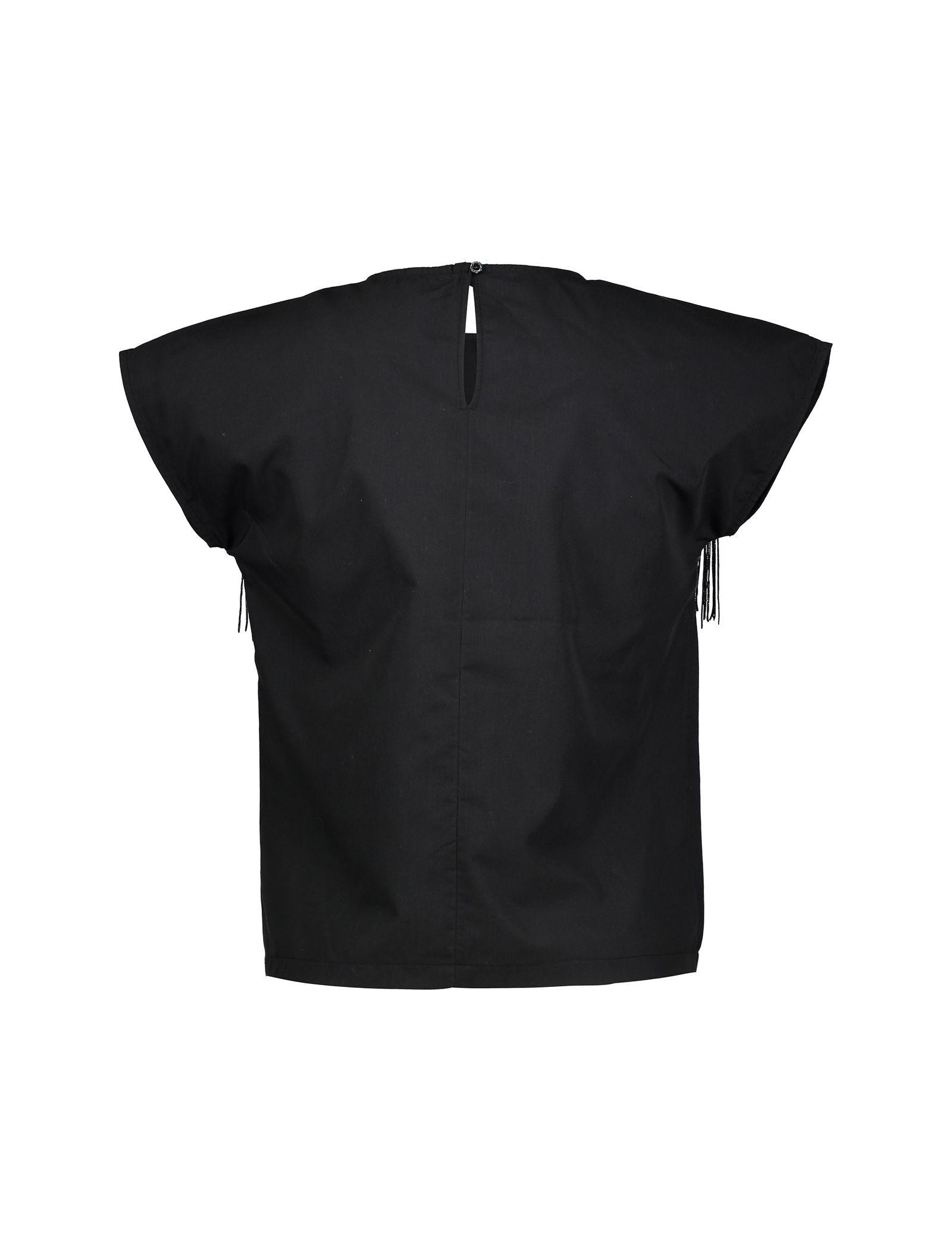 تی شرت نخی یقه گرد زنانه - دفکتو - مشکي - 2