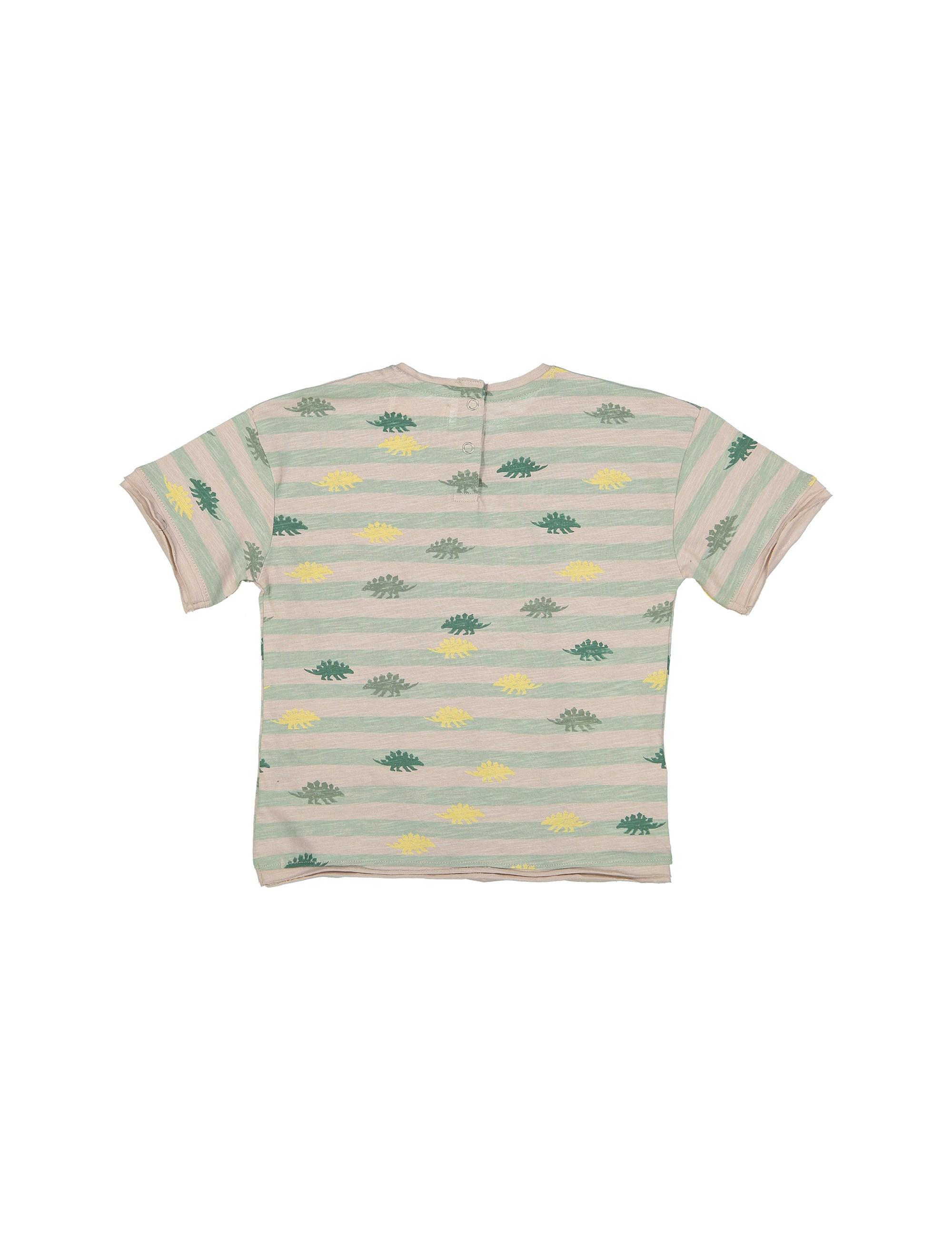 تی شرت نخی طرح دار نوزادی پسرانه - مانگو