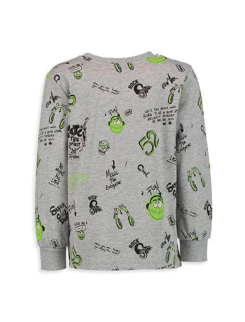تی شرت آستین بلند پسرانه - طوسي - 2