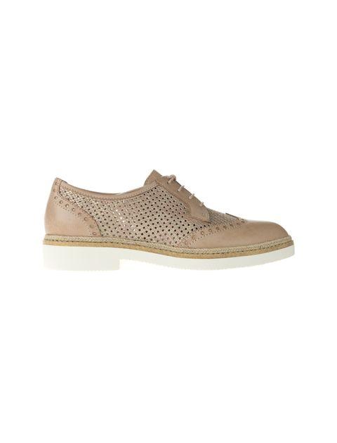 کفش چرم بندی زنانه - تاماریس - کرم - 2