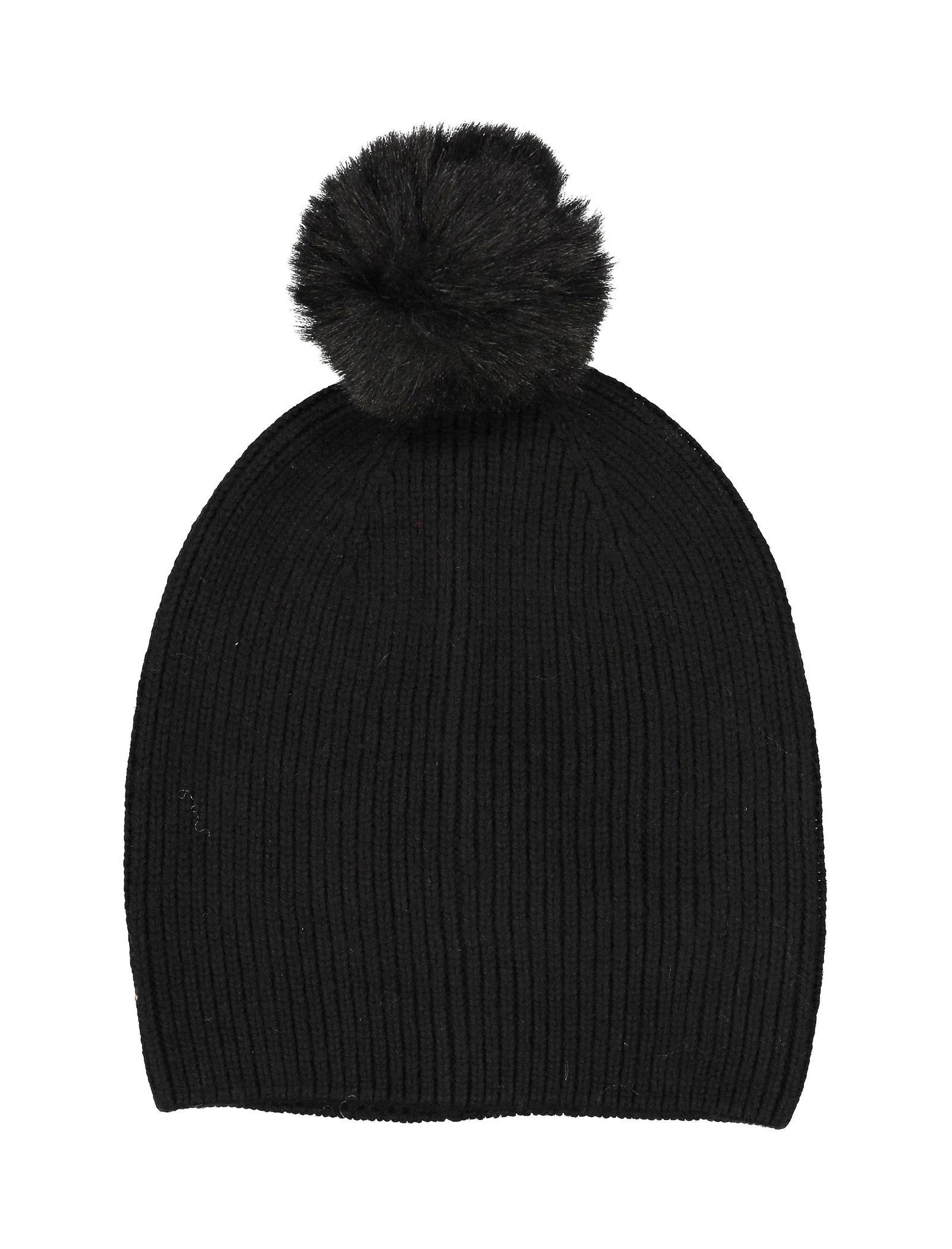 کلاه بافتنی زنانه - پی سز - مشکي   - 1