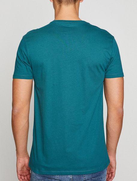 تی شرت نخی یقه هفت مردانه - آبي - 2