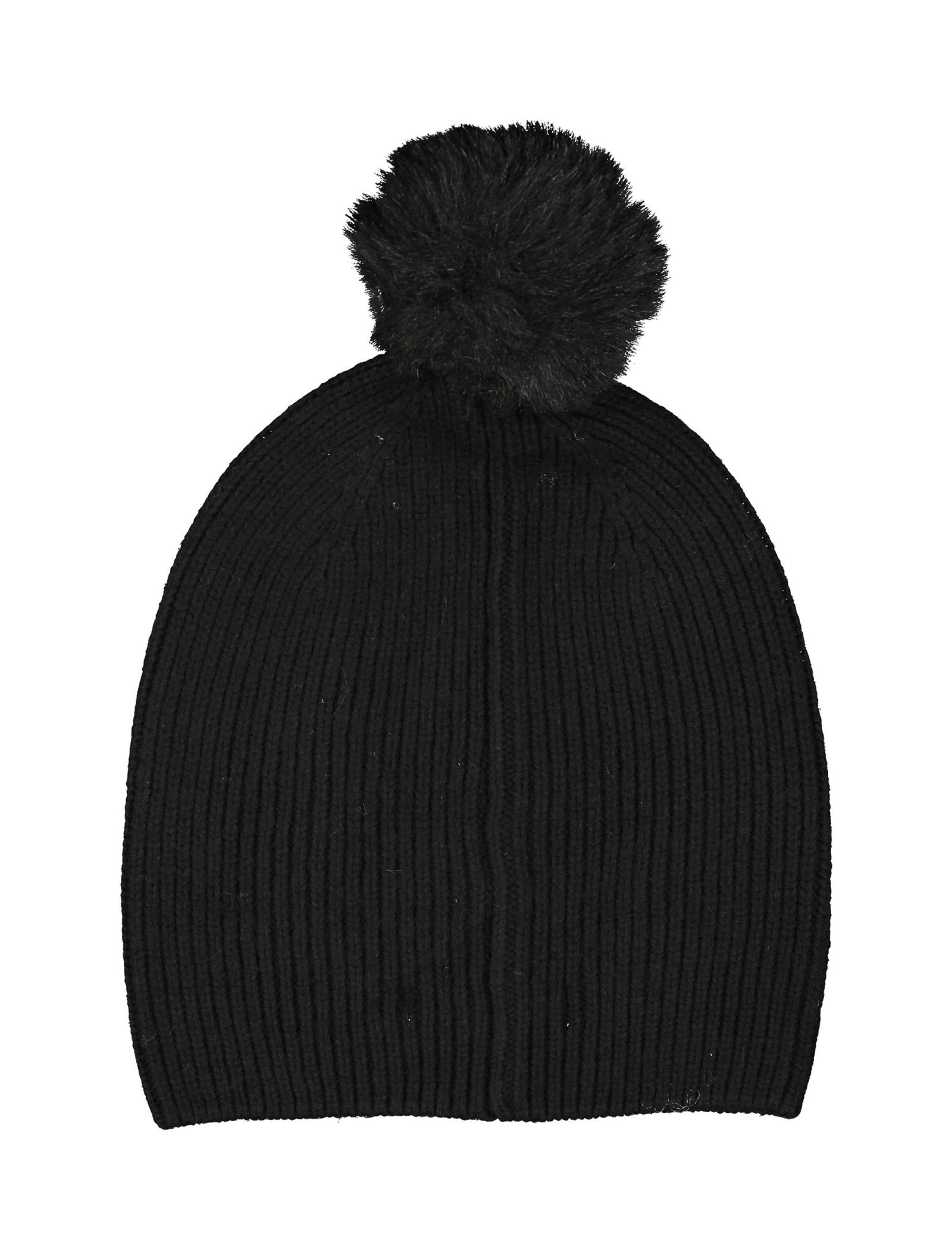 کلاه بافتنی زنانه - پی سز - مشکي   - 2