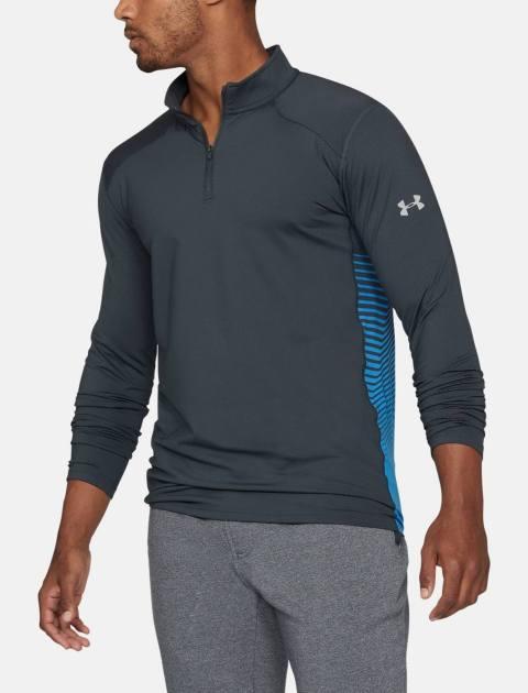 تی شرت ورزشی آستین بلند مردانه ColdGear Reactor Fitted - طوسي - 3