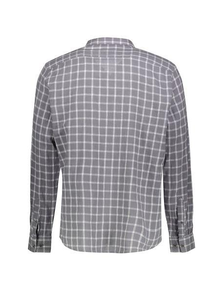 پیراهن نخی روزمره مردانه - طوسي - 2
