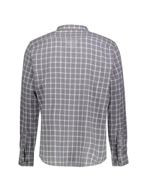 پیراهن نخی روزمره مردانه - کوتون - طوسي - 2