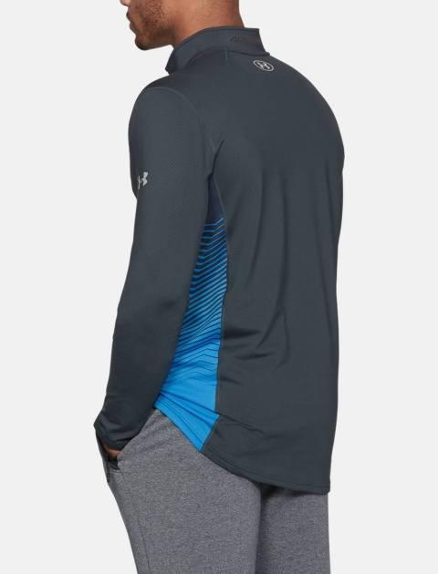 تی شرت ورزشی آستین بلند مردانه ColdGear Reactor Fitted - طوسي - 4