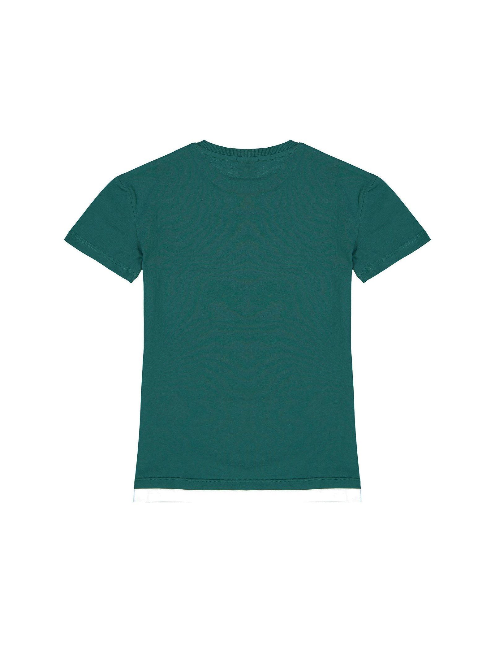 تی شرت نخی یقه گرد پسرانه - ال سی وایکیکی - سبز - 2