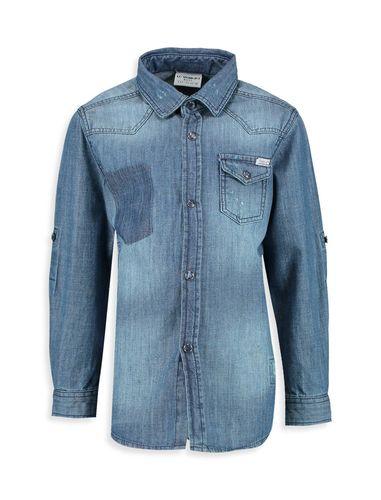پیراهن جین آستین بلند پسرانه - ال سی وایکیکی