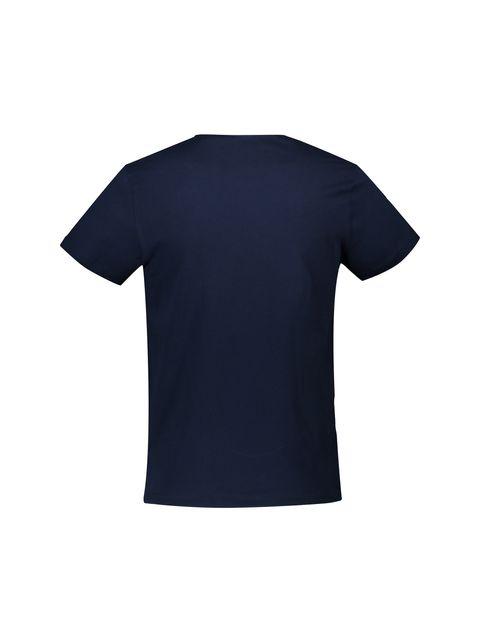 تی شرت نخی یقه هفت مردانه - سرمه اي - 2