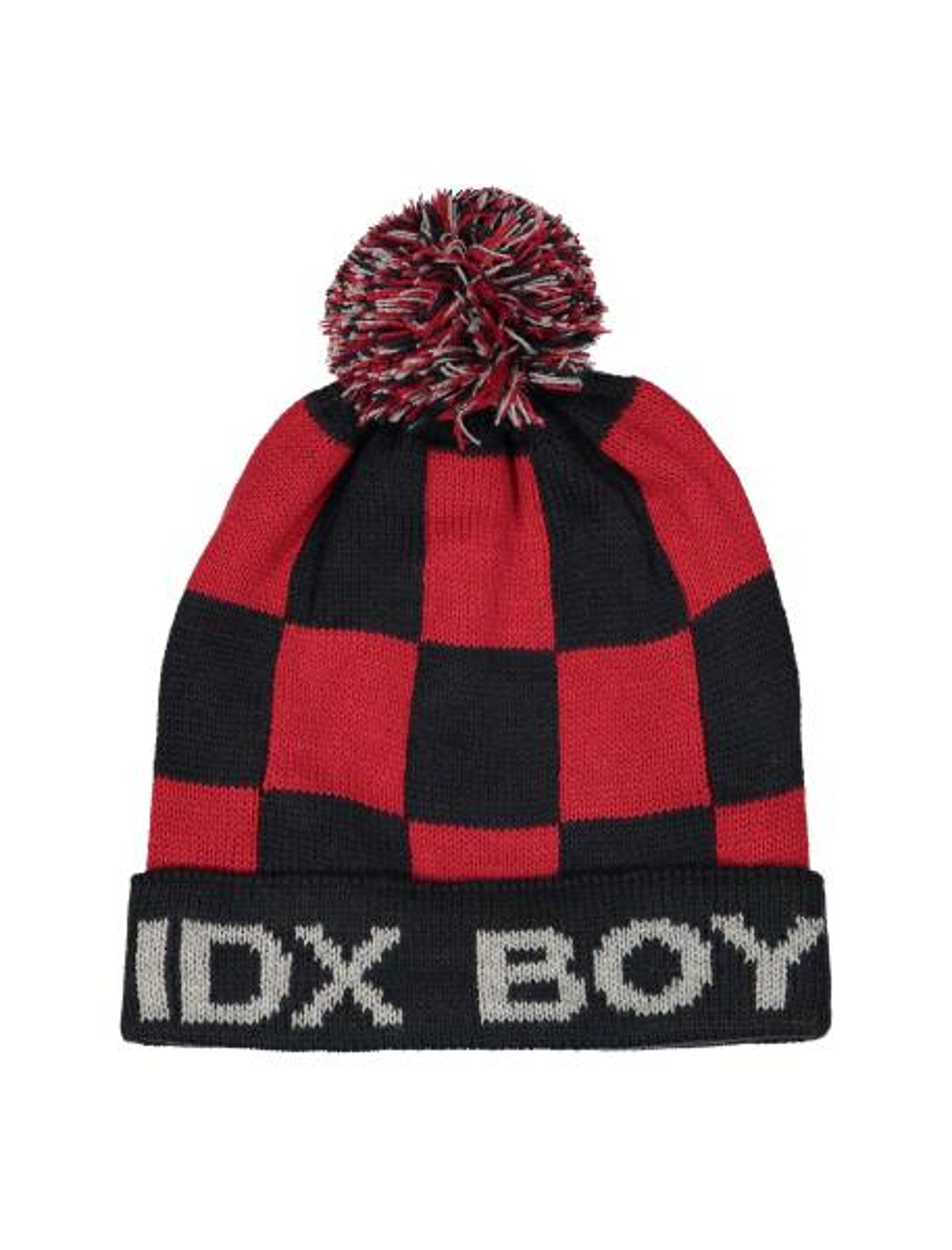 کلاه بافتنی بانی پسرانه - قرمز و سرمه اي - 1