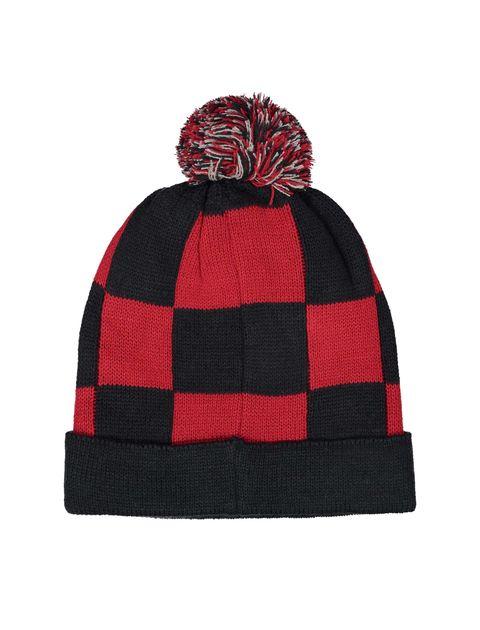 کلاه بافتنی بانی پسرانه - ایدکس - قرمز و سرمه اي - 2