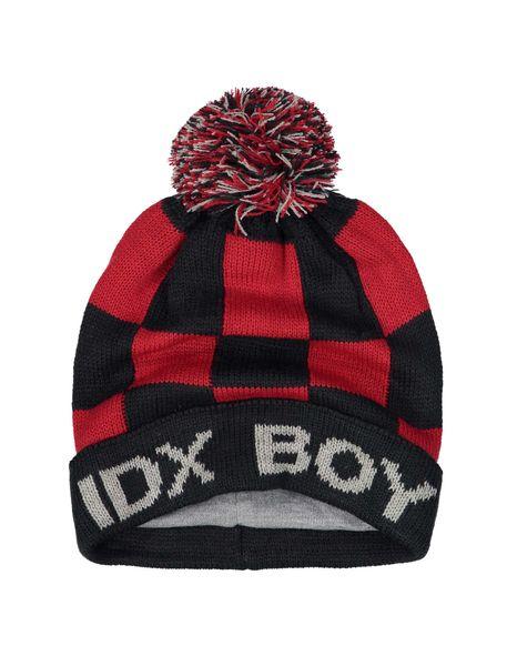 کلاه بافتنی بانی پسرانه - قرمز و سرمه اي - 3