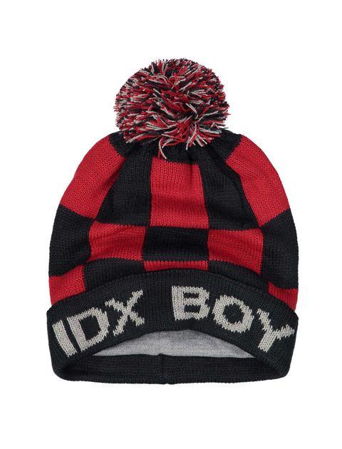 کلاه بافتنی بانی پسرانه - ایدکس - قرمز و سرمه اي - 3
