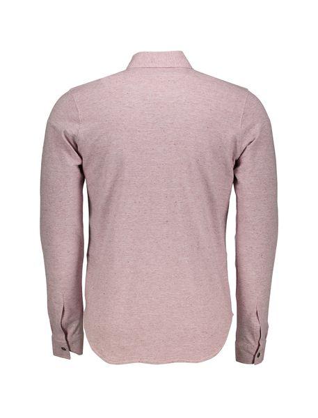 پیراهن نخی آستین بلند مردانه - صورتي - 2