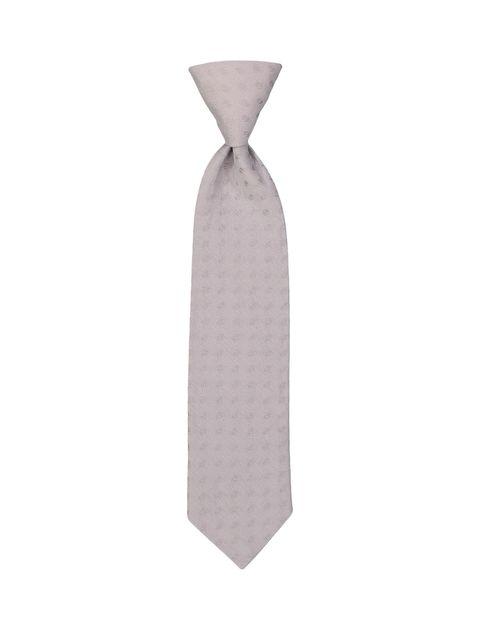 کراوات نخی طرح دار نوزادی پسرانه - طوسي - 1