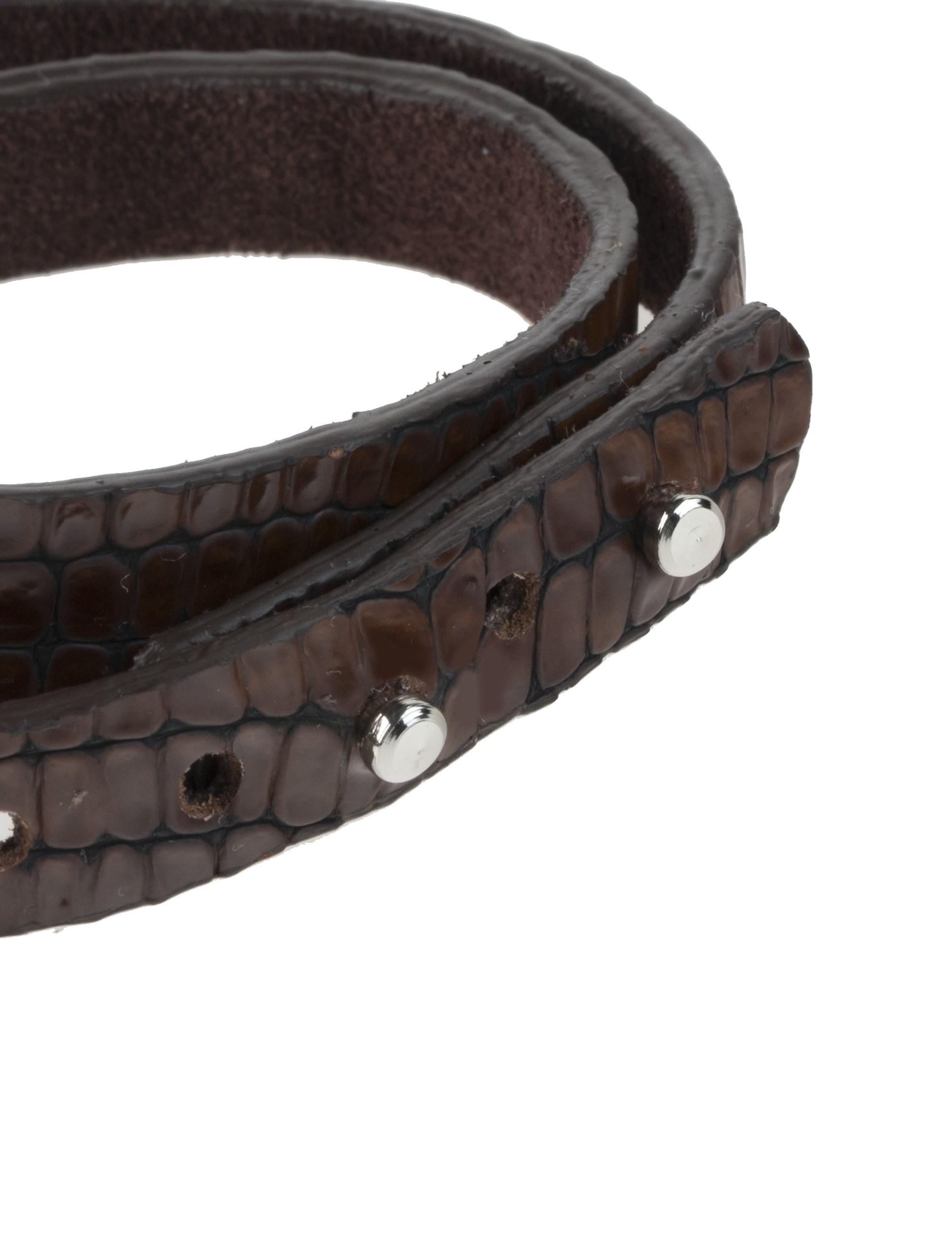 دستبند چرم مردانه - ماکو دیزاین