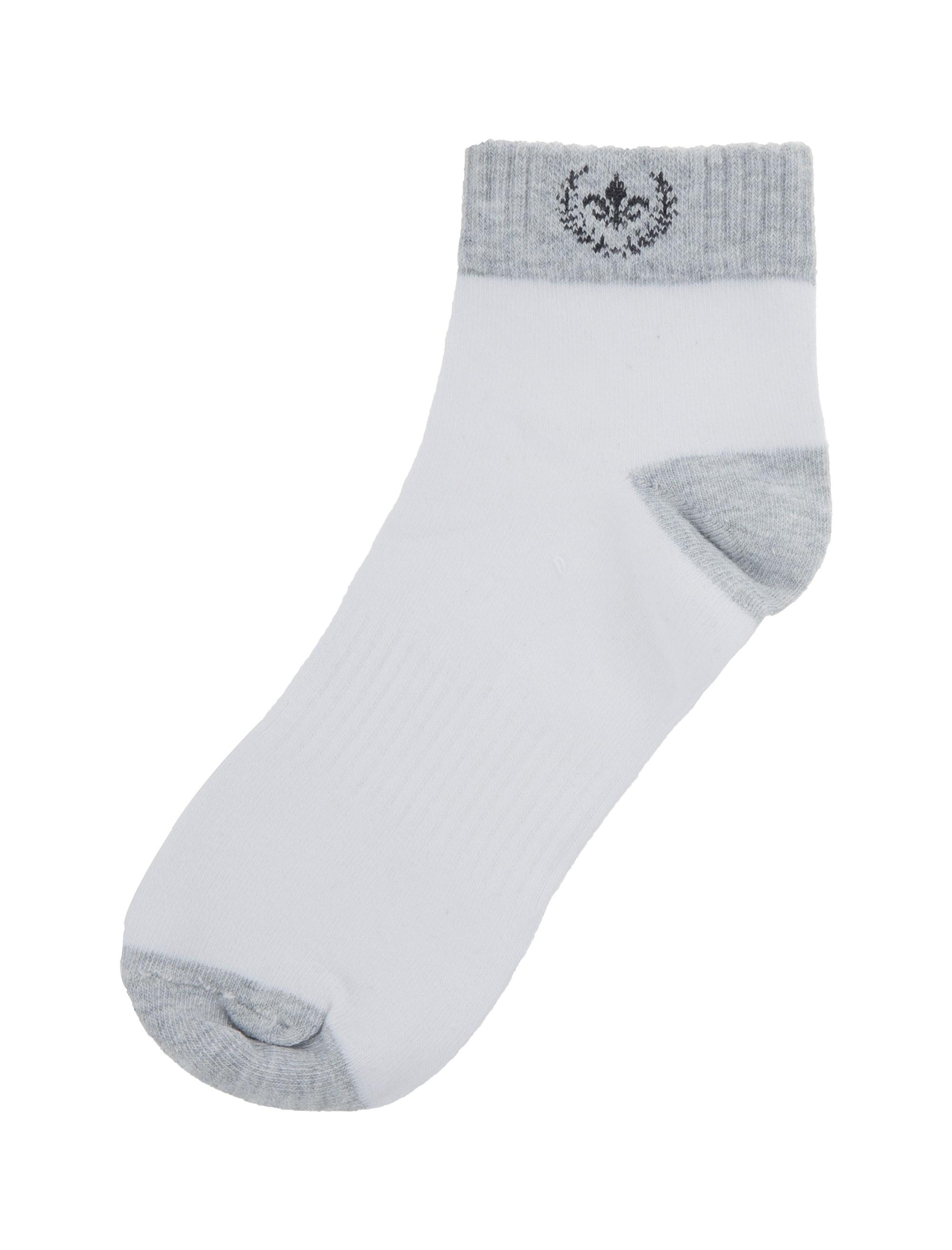 جوراب نخی ساق کوتاه مردانه - مادام کوکو - سفيد - 2