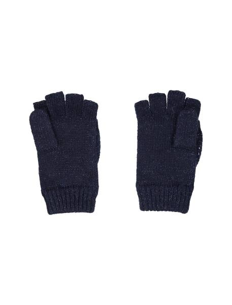 دستکش بافتنی دخترانه - سرمه اي - 3