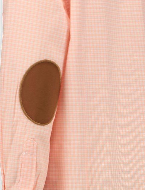 پیراهن نخی آستین بلند پسرانه - صورتي روشن - 3