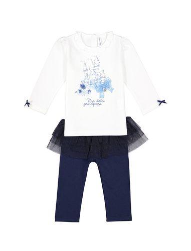 ست تی شرت و شلوار نخی نوزادی دخترانه