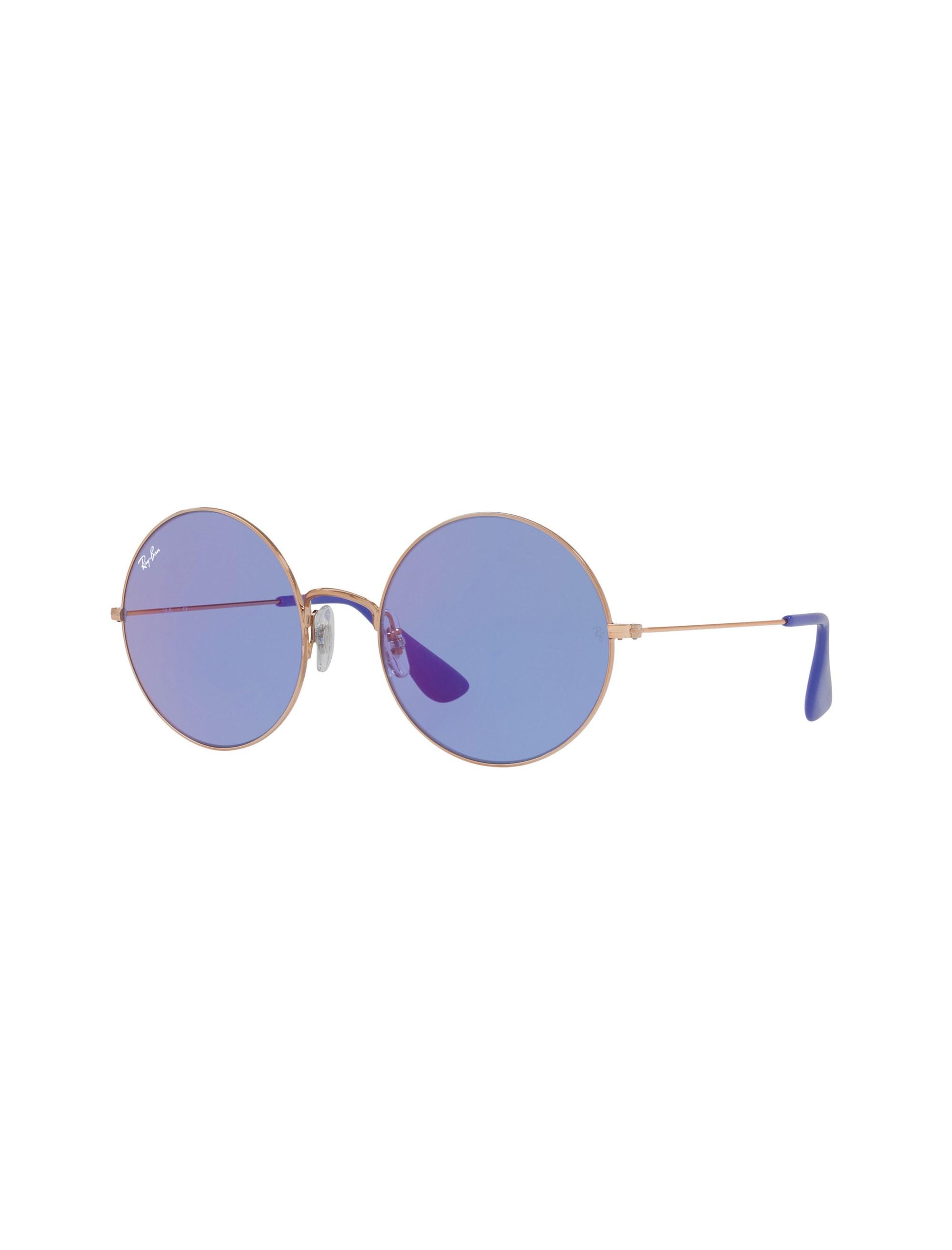 عینک آفتابی گرد زنانه - ری بن - مسي - 2