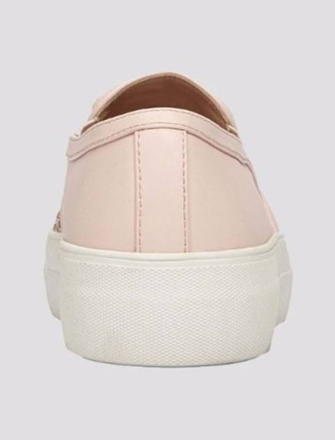 کفش لژ دار زنانه - صورتي - 3