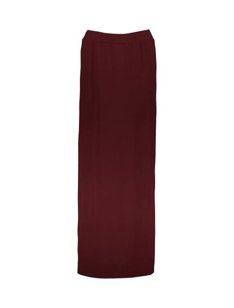 دامن ویسکوز بلند زنانه - زرشکي - 1