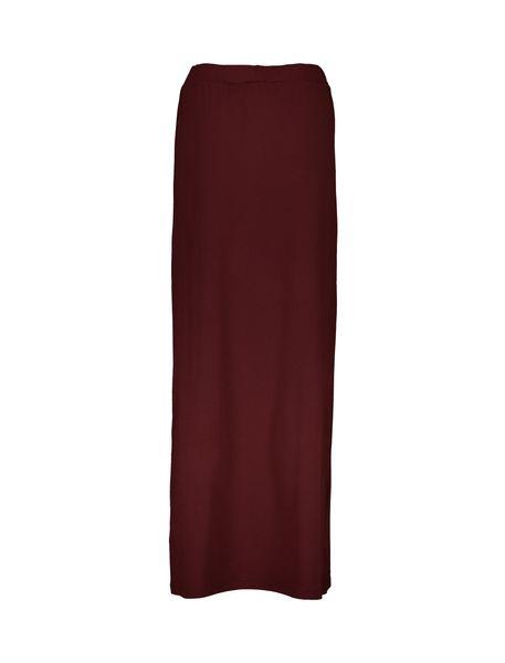 دامن ویسکوز بلند زنانه - زرشکي - 2