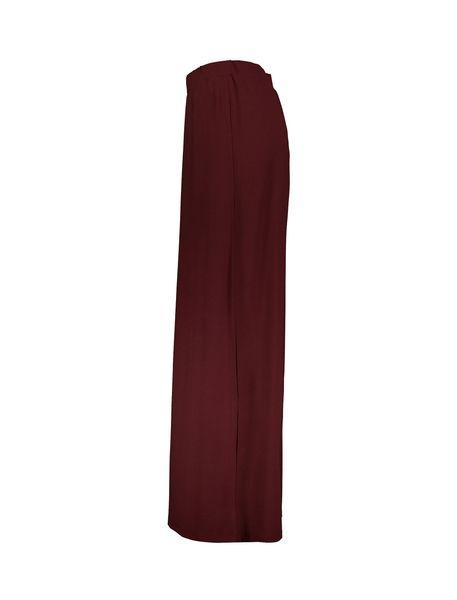 دامن ویسکوز بلند زنانه - زرشکي - 3