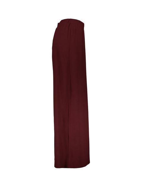 دامن ویسکوز بلند زنانه - زرشکي - 4