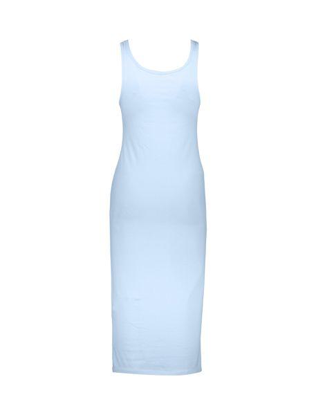 پیراهن نخی بلند زنانه - آبي - 2