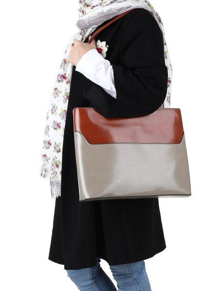 کیف دوشی روزمره زنانه - خاکي - 6