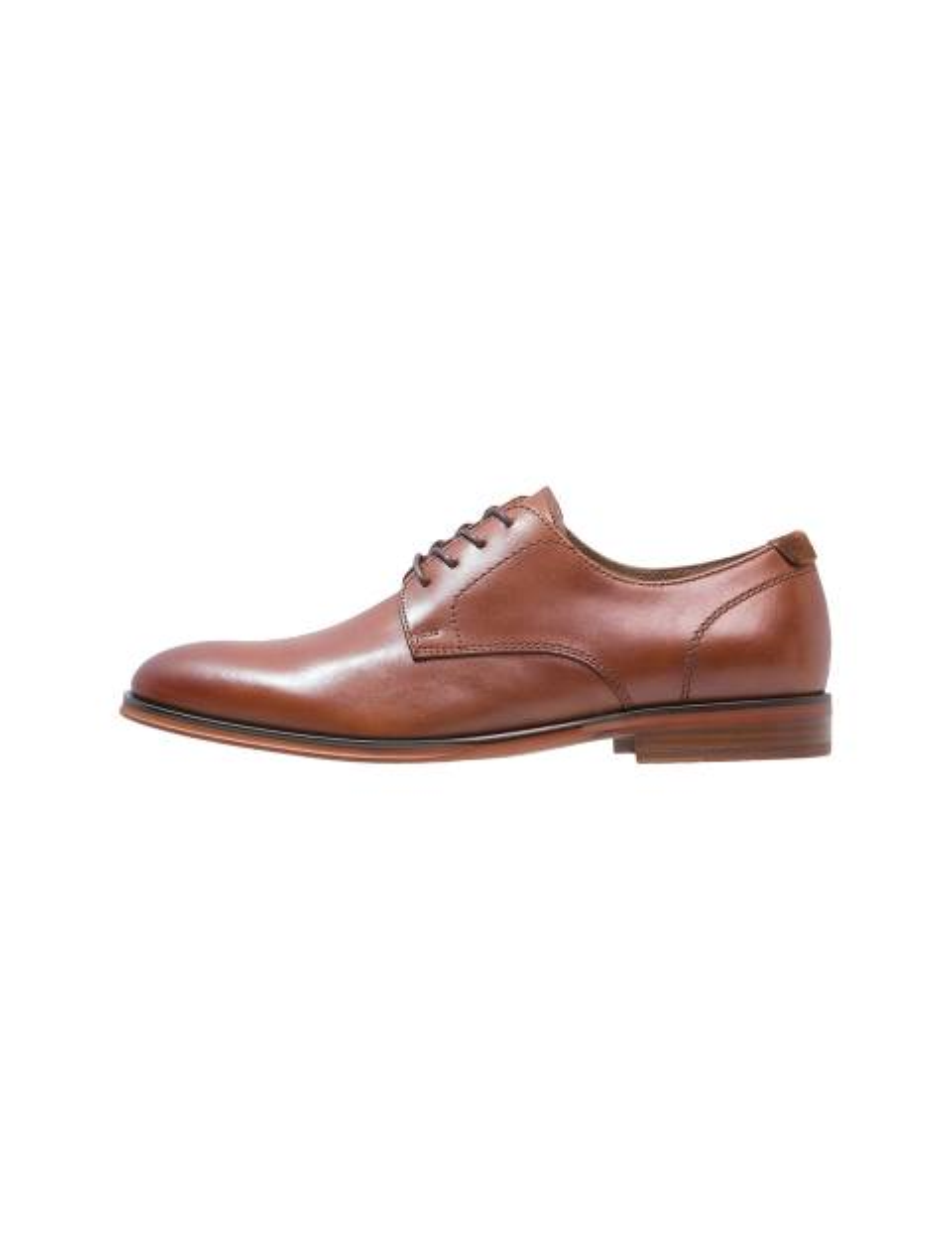 کفش چرم اداری مردانه - قهوه اي - 3