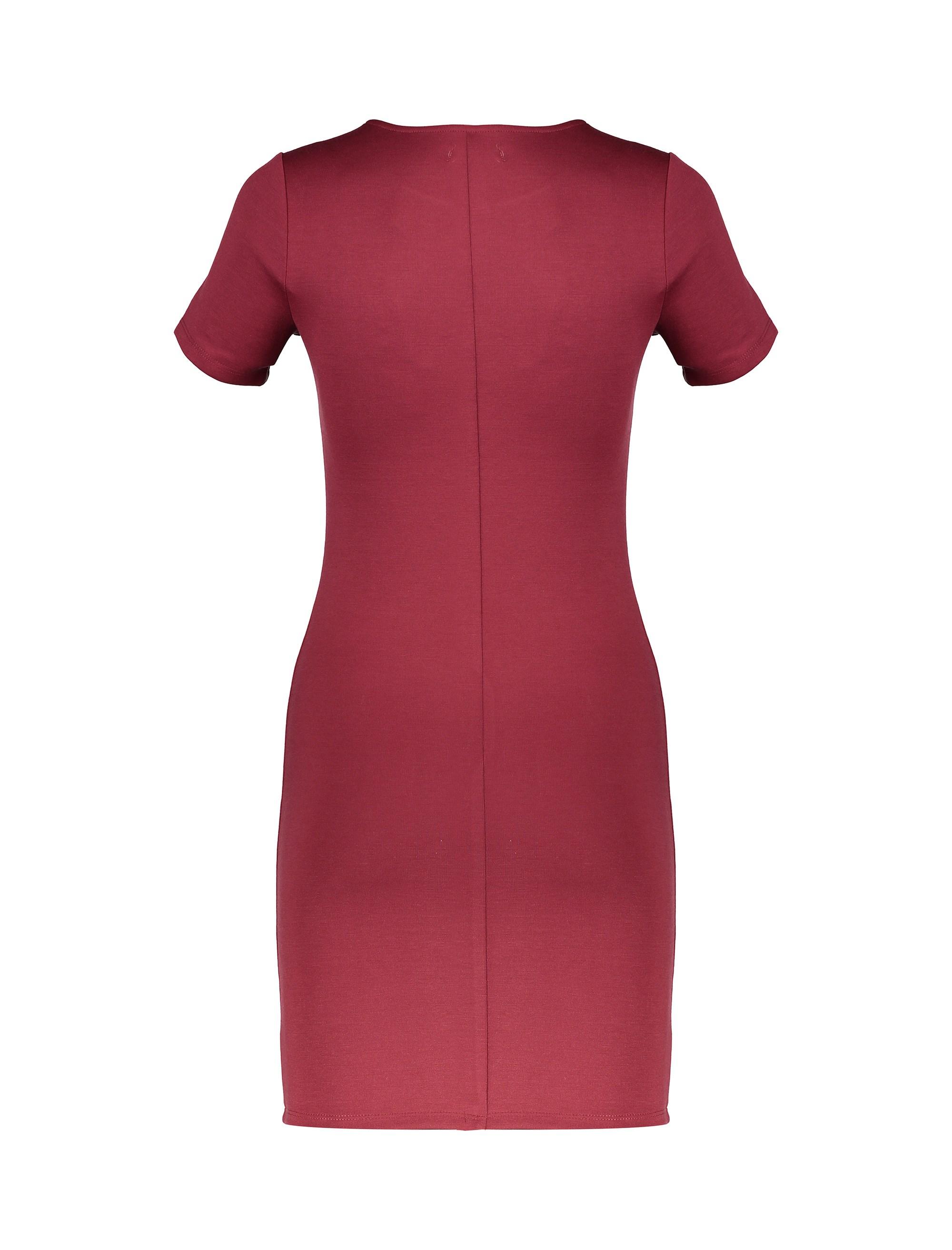 پیراهن کوتاه زنانه - جنیفر - قرمز - 2