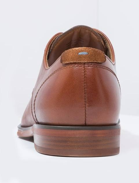 کفش چرم اداری مردانه - قهوه اي - 5