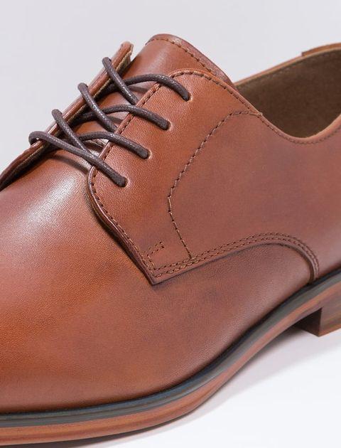 کفش چرم اداری مردانه - قهوه اي - 6