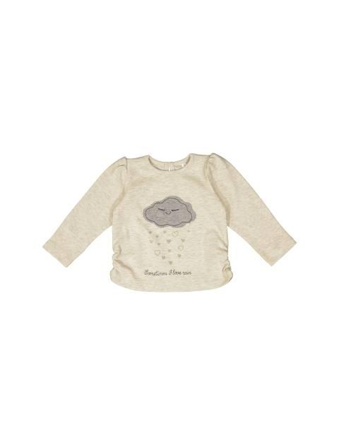 تی شرت نخی نوزادی دخترانه - ایدکس - بژ - 1