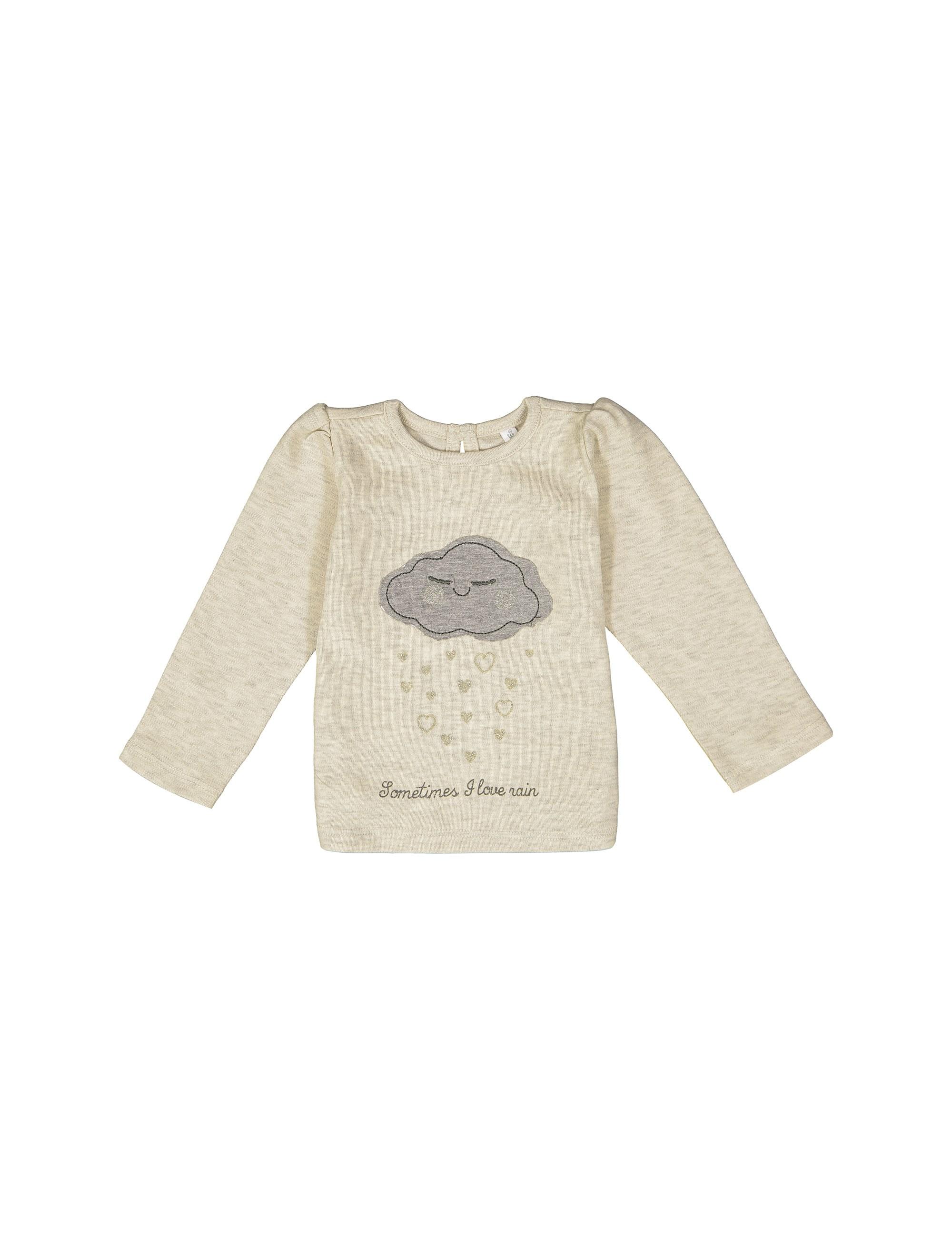 تی شرت نخی نوزادی دخترانه - ایدکس - بژ - 2